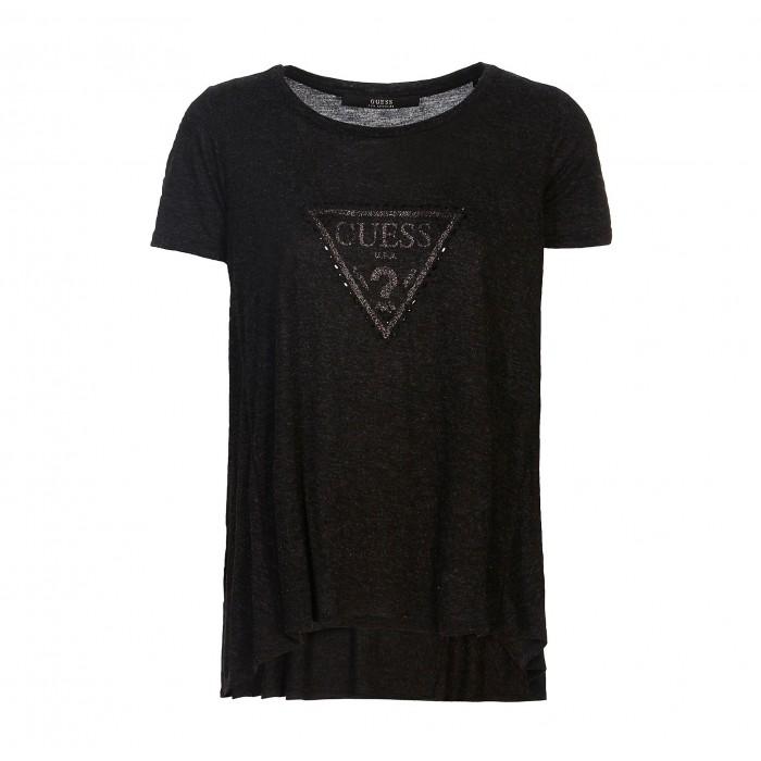top shirt noir manches...