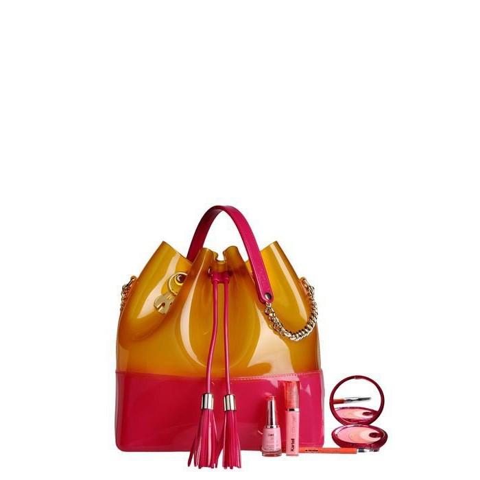 Fucsia-Coral Bags, Grace K,...