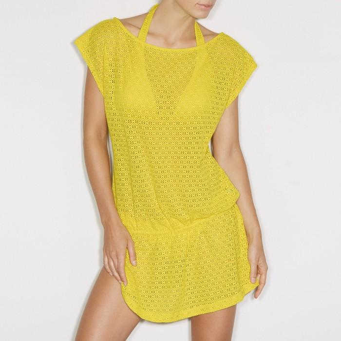 Yellow pareo dresses-Magda...