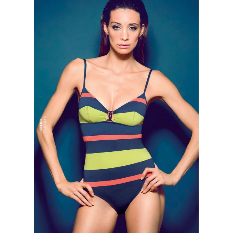 CONTROL NAVY BLUE SWIMSUIT STRIPED, CHAO, ANDRES SARDA ONLINE
